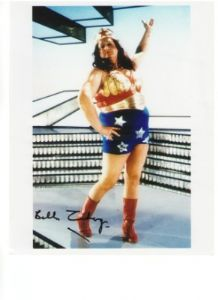 Bella Emberg as Blunderwoman Signed 10 x 8 Photograph